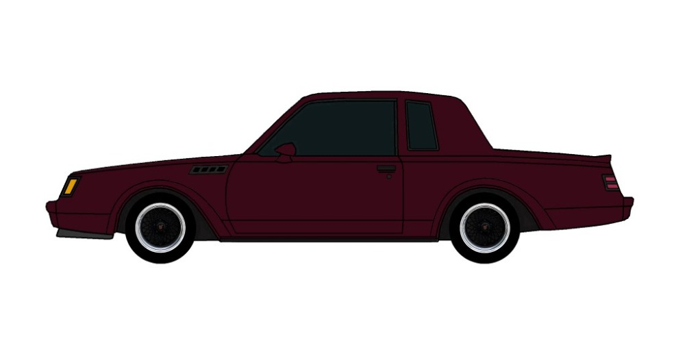 1987 Buick Grand National GNX MAROON