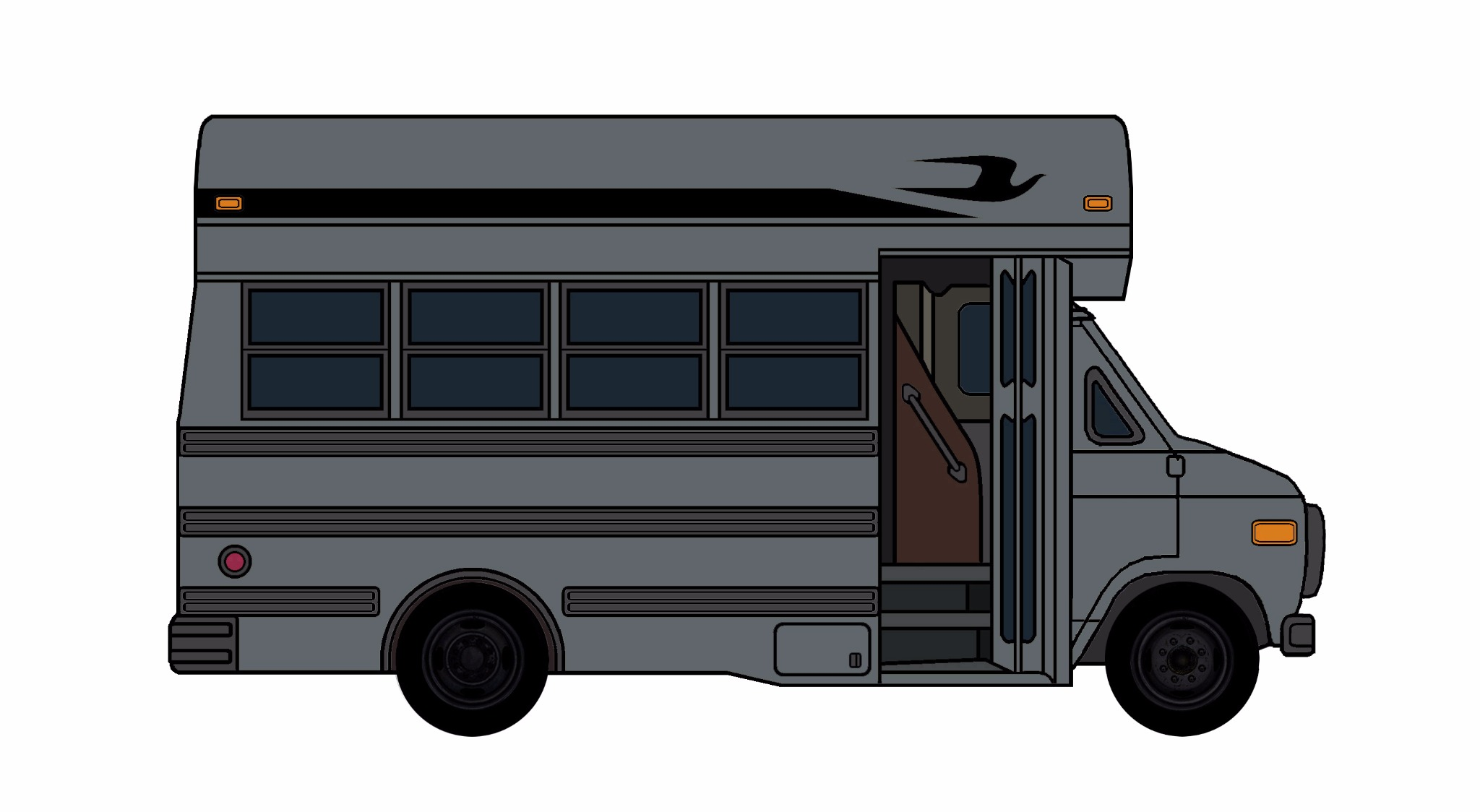 1985-96 Chevy G30 School Bus CHARCOAL