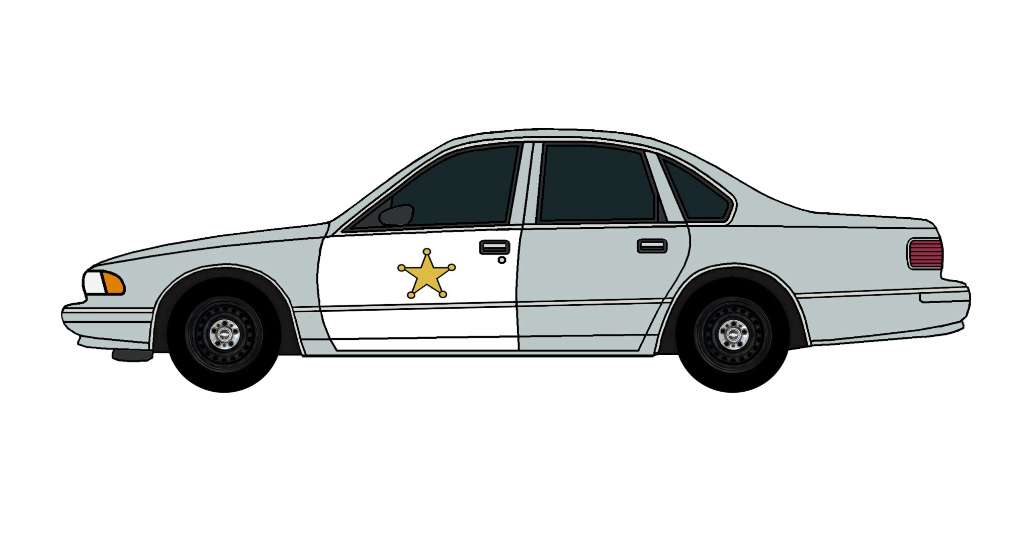1995 Chevy Caprice Police Car SLATE BLUE