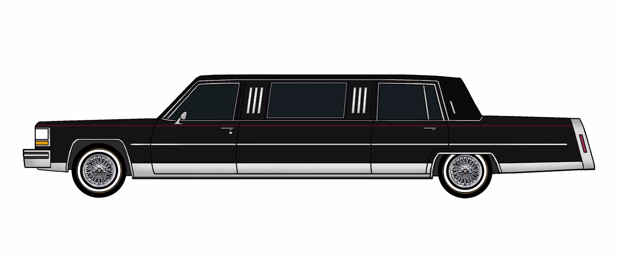 1984 Cadillac Fleetwood Brougham Limo BLACK