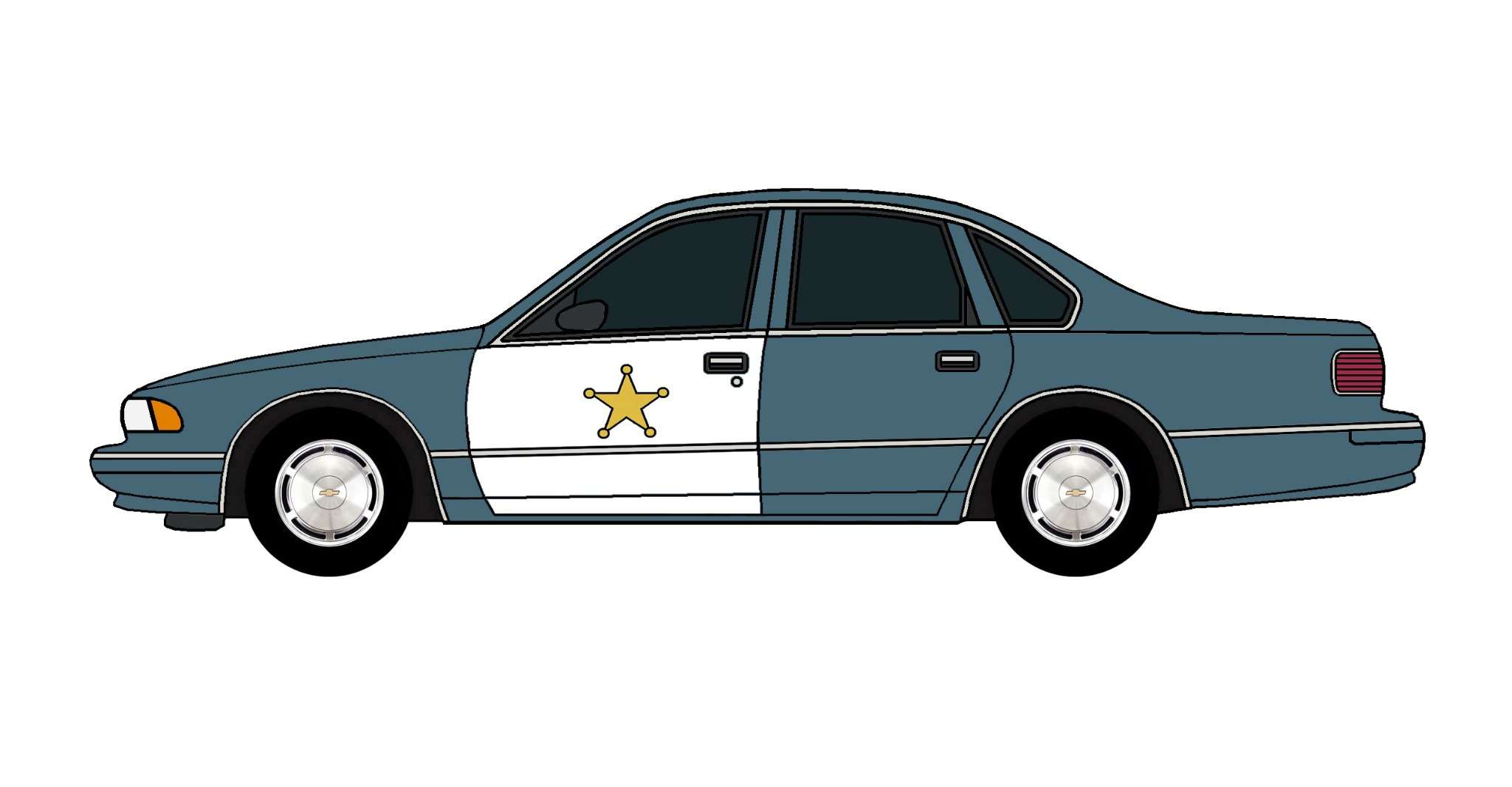 1995 Chevy Caprice Police Car BRITTANY BLUE