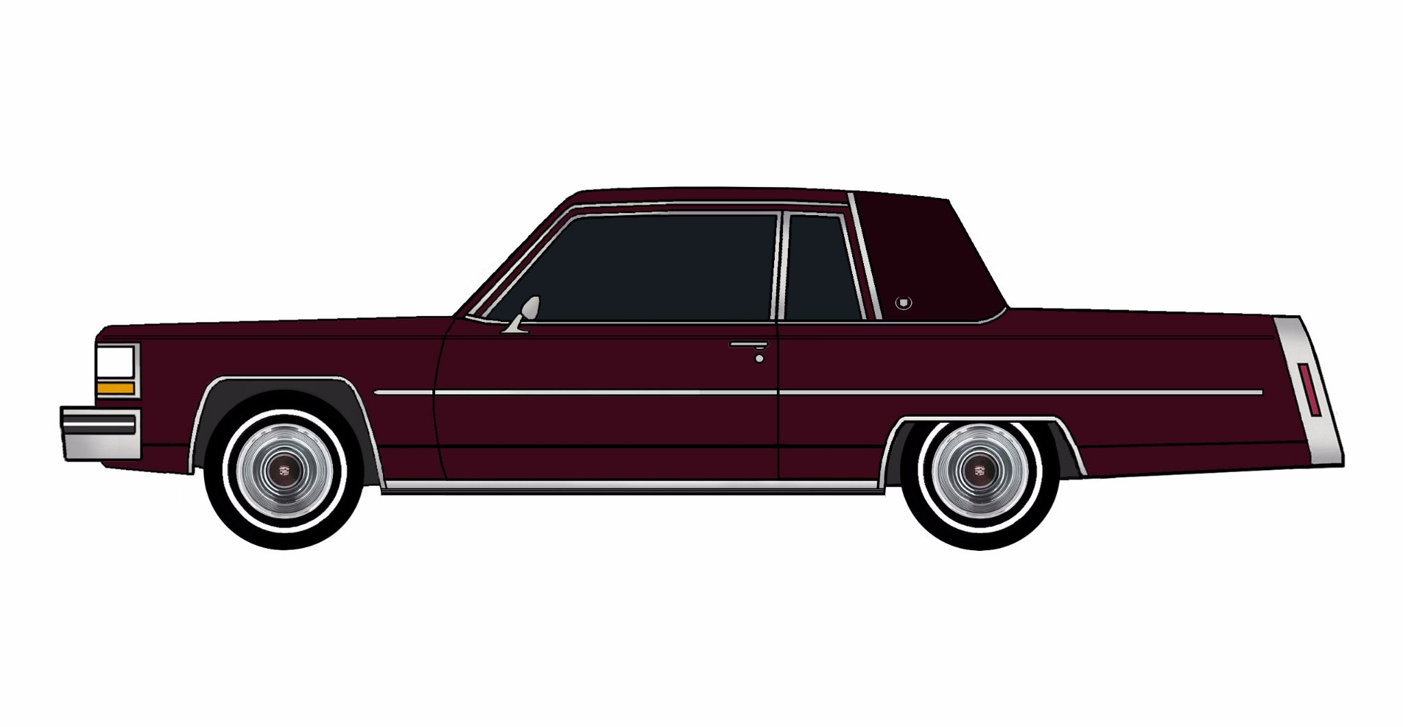 1980 Cadillac Coupe Deville MAROON