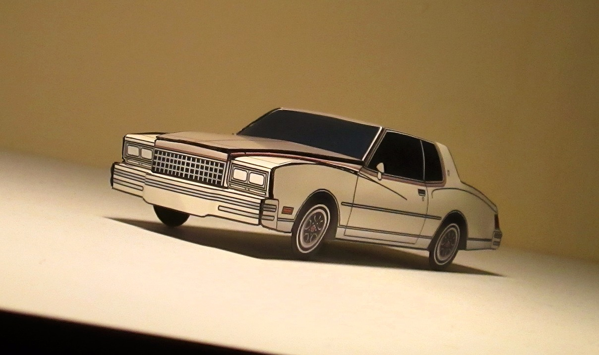 1980 Chevy Monte Carlo SANDY WHITE & FRENCH GREY