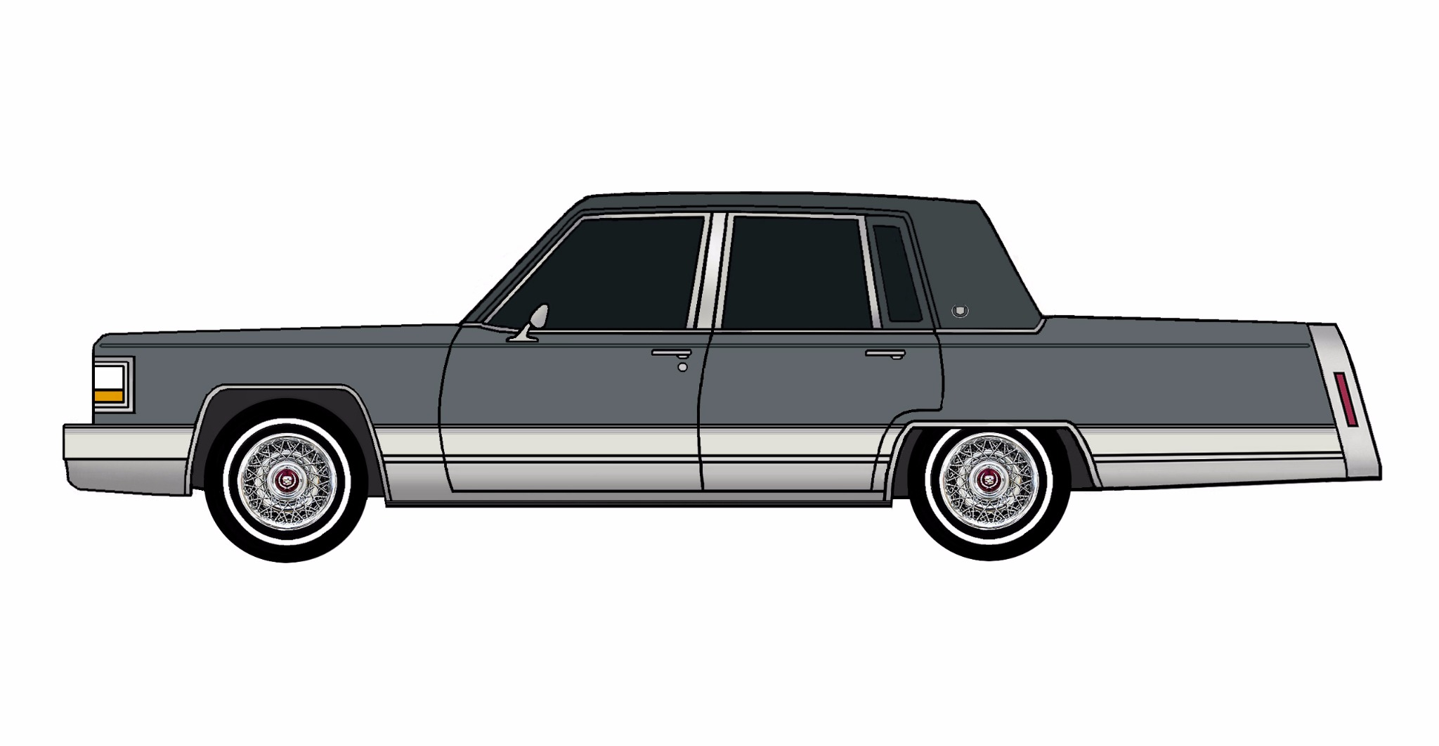 1992 Cadillac Brougham CHARCOAL