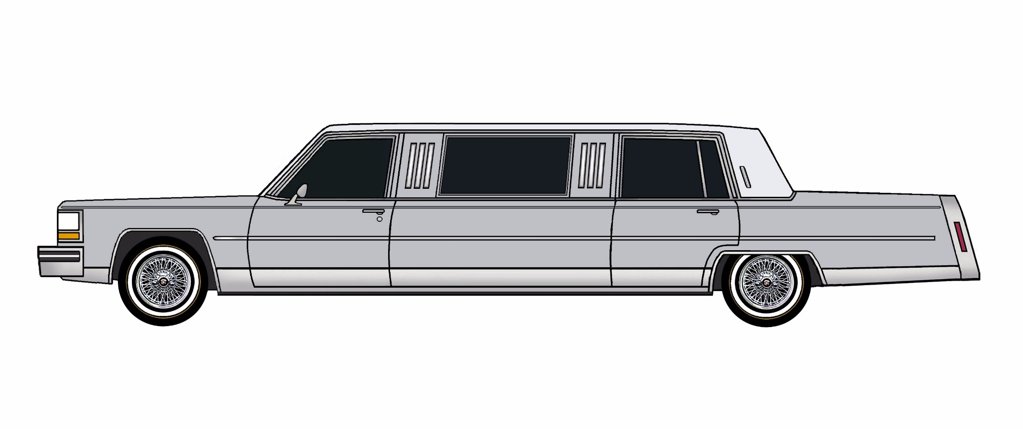 1984 Cadillac Fleetwood Brougham Limo LILAC GREY