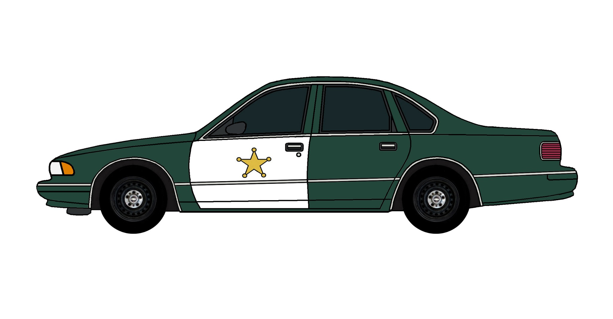 1995 Chevy Caprice Police Car HUNTER GREEN