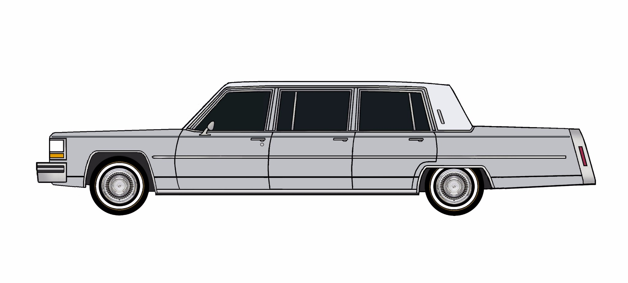 1980 Cadillac Fleetwood Funeral Limo LILAC GREY