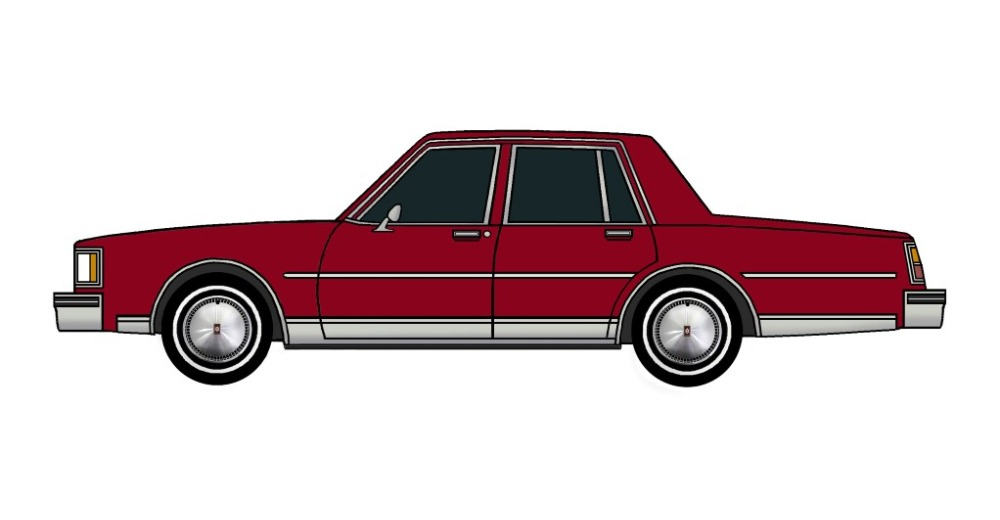 1984 Oldsmobile Delta 88 BURGUNDY