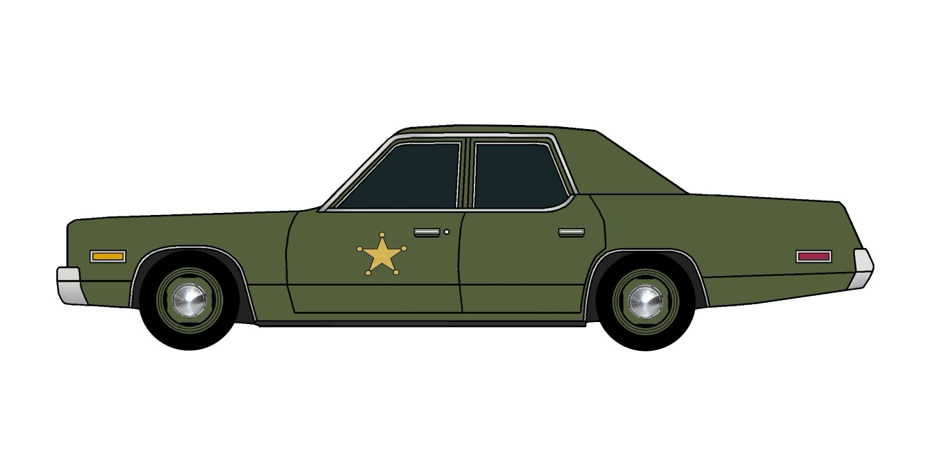 1974 Plymouth Fury Police ARMY GREEN