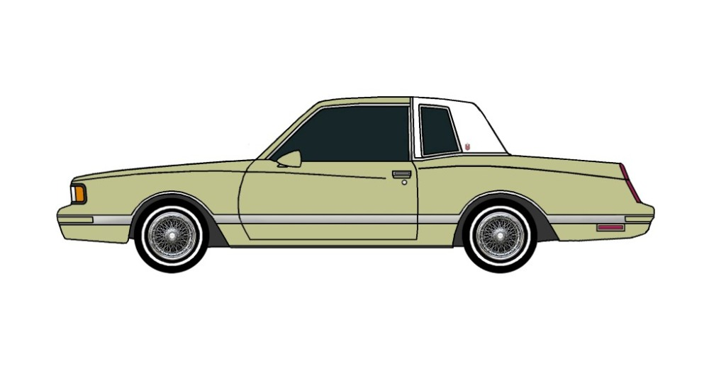 1987 Chevy Monte Carlo LS OLIVE GREEN