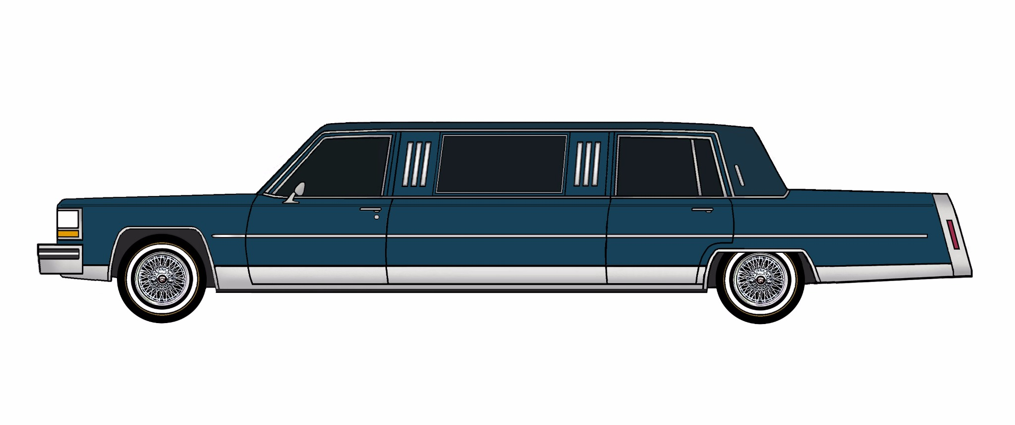 1984 Cadillac Fleetwood Brougham Limo MIDNIGHT BLUE