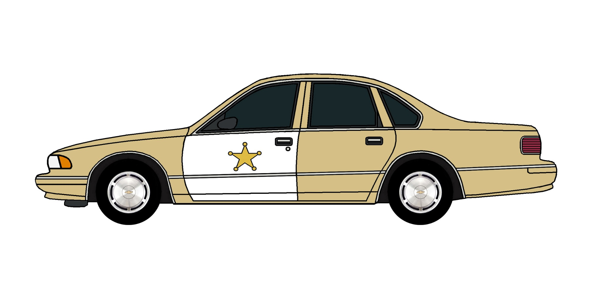 1995 Chevy Caprice Police Car TAN