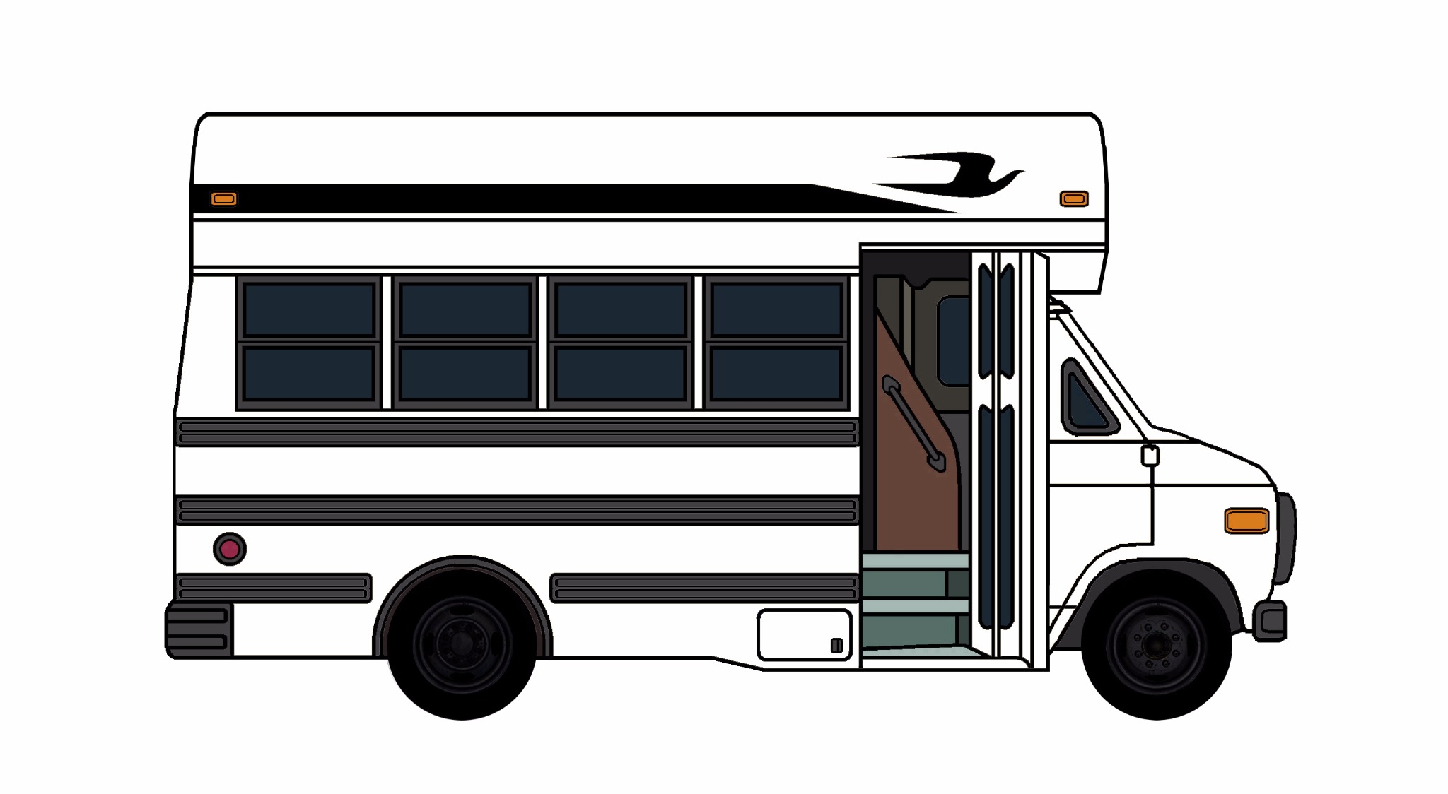 1985-96 Chevy G30 School Bus WHITE