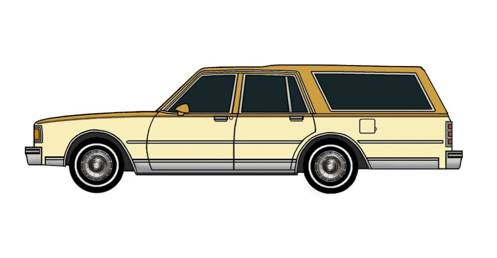 1985 Chevy Caprice Wagon INDIAN YELLOW & SANDY YELLOW