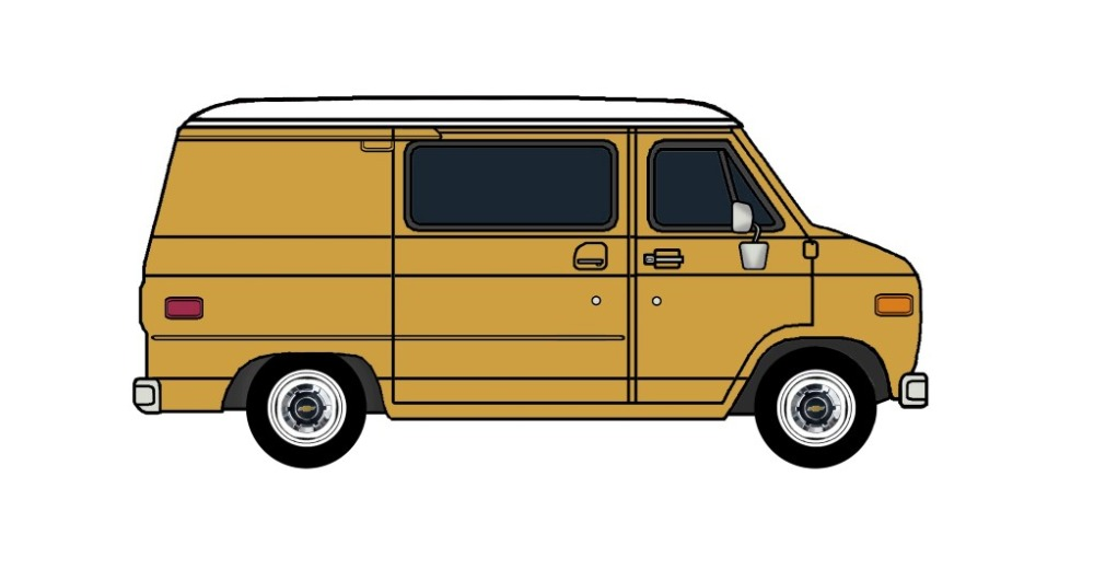 1977 Chevy G10 INDIAN YELLOW