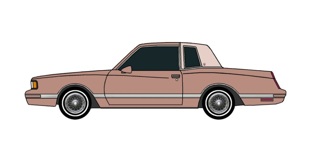 1987 Chevy Monte Carlo LS CLAY ROSE