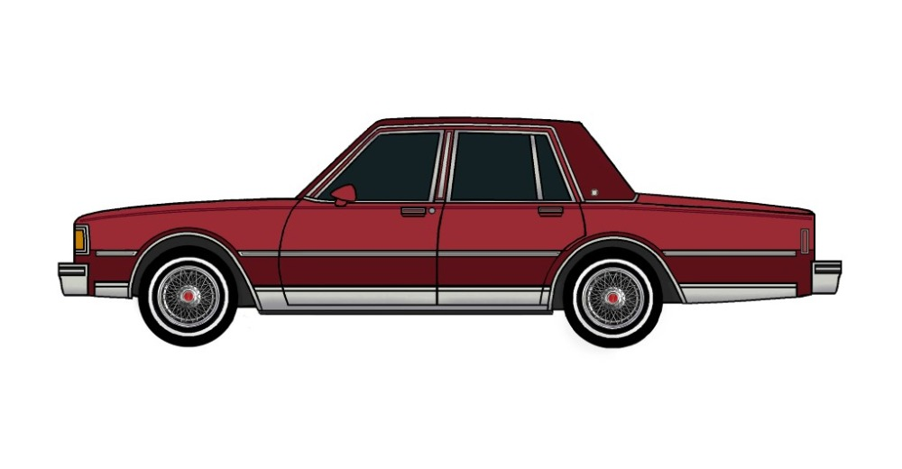 1983 Pontiac Parisienne CHERRY RED & BURGUNDY