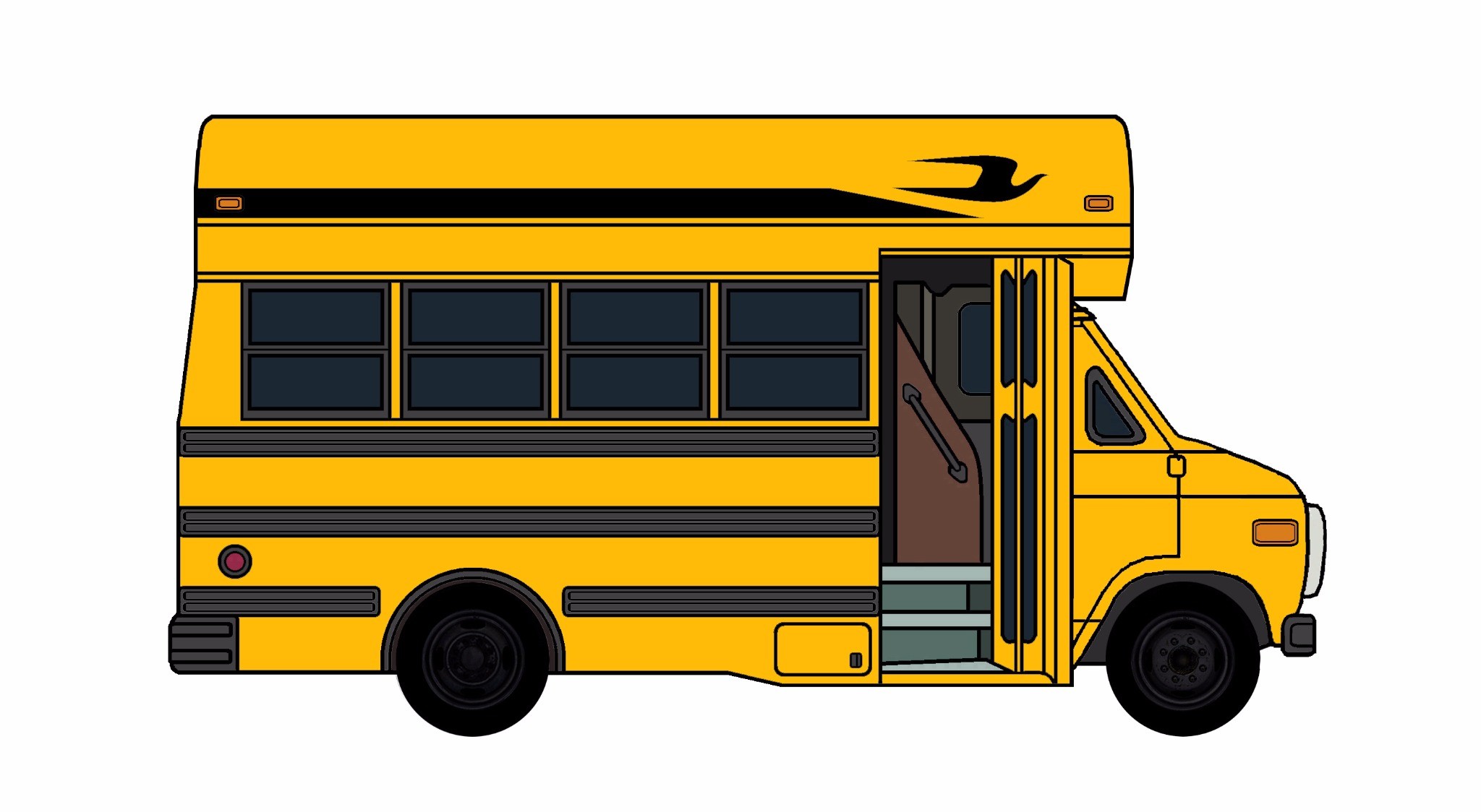1985-96 Chevy G30 School Bus YELLOW