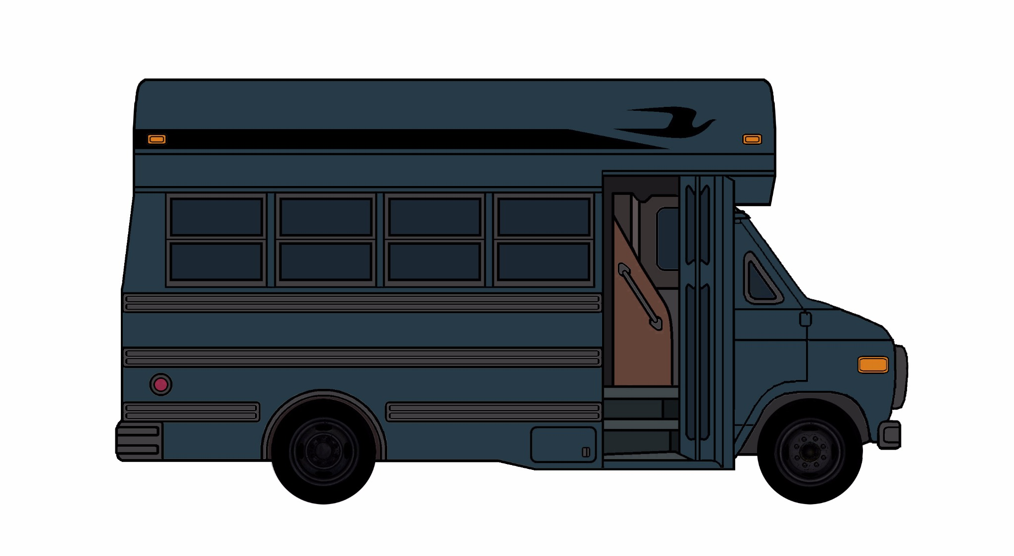1985-96 Chevy G30 School Bus NAVY BLUE