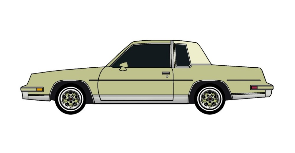 1984 Oldsmobile Cutlass OLIVE GREEN