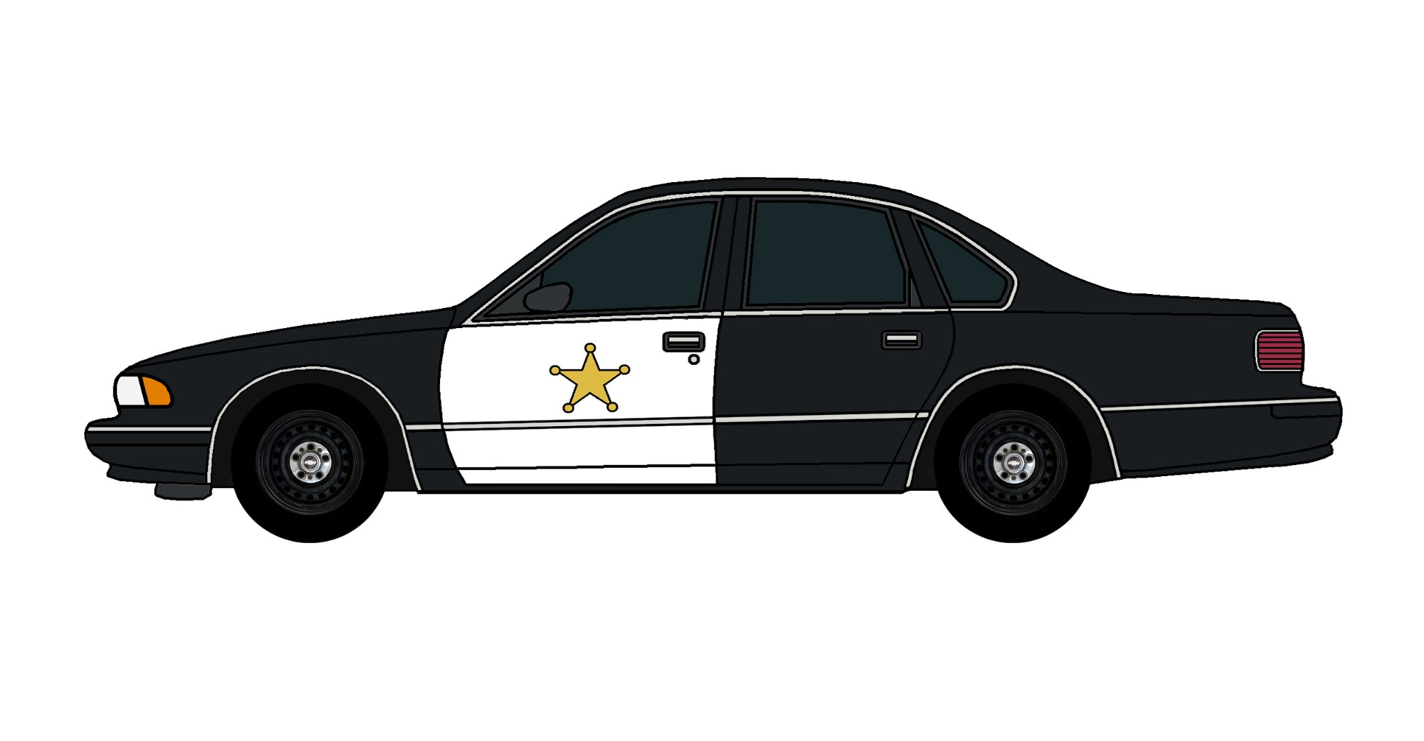 1995 Chevy Caprice Police Car BLACK
