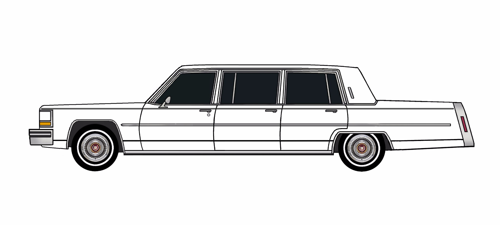 1981 Cadillac Fleetwood Funeral Limo WHITE