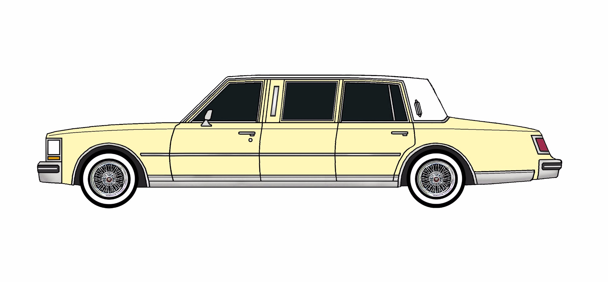 1978 Cadillac Seville Limo LEMON YELLOW