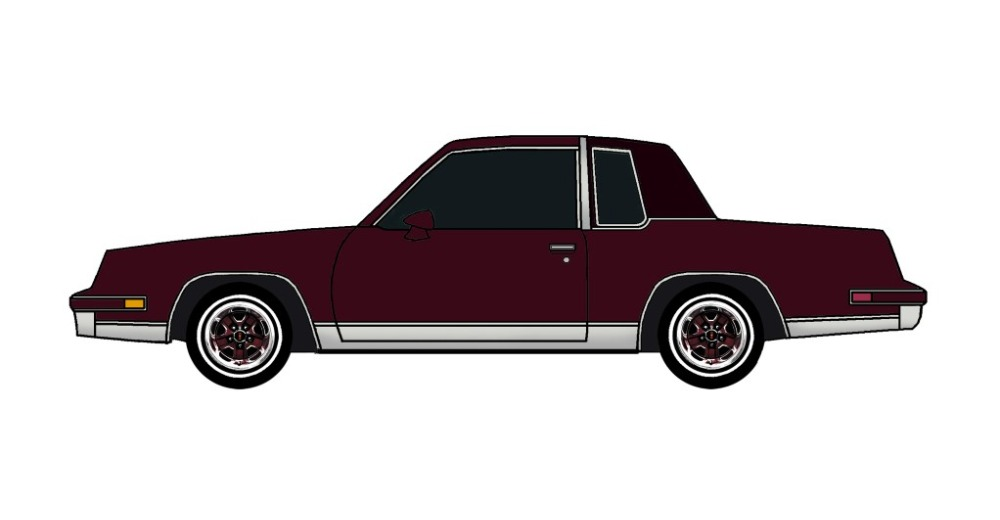 1986 Oldsmobile Cutlass MAROON