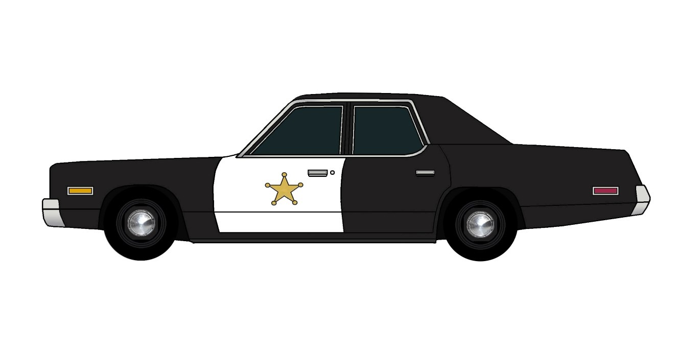 1974 Plymouth Fury Police BLACK