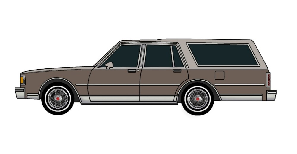1983 Pontiac Parisienne Safari Wagon FRENCH GREY