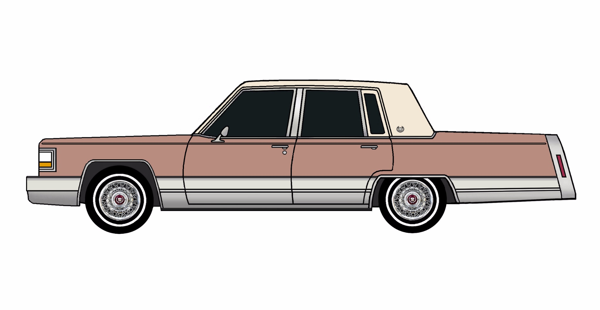 1992 Cadillac Brougham CLAY ROSE