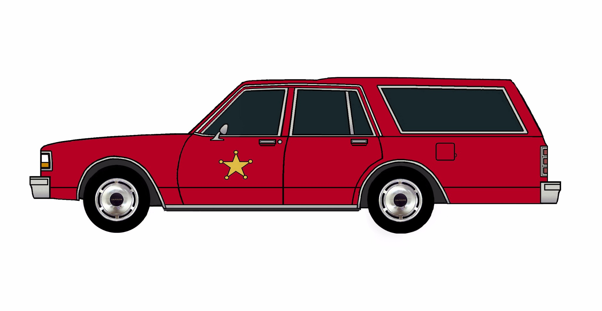 1987 Chevy Caprice 9C1 Wagon FIRE RED