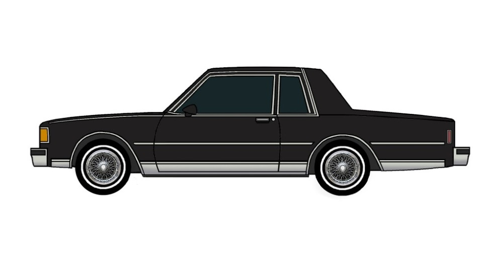 1986 Chevy Caprice Coupe BLACK