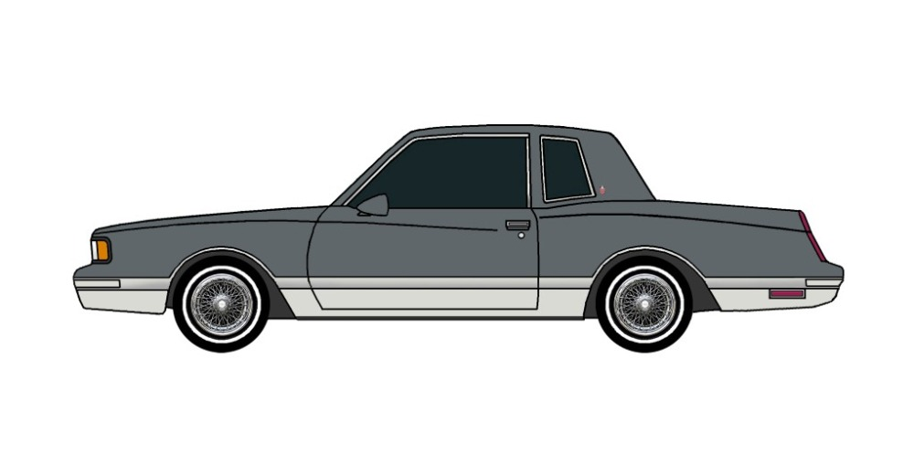 1987 Chevy Monte Carlo LS CHARCOAL & GREY