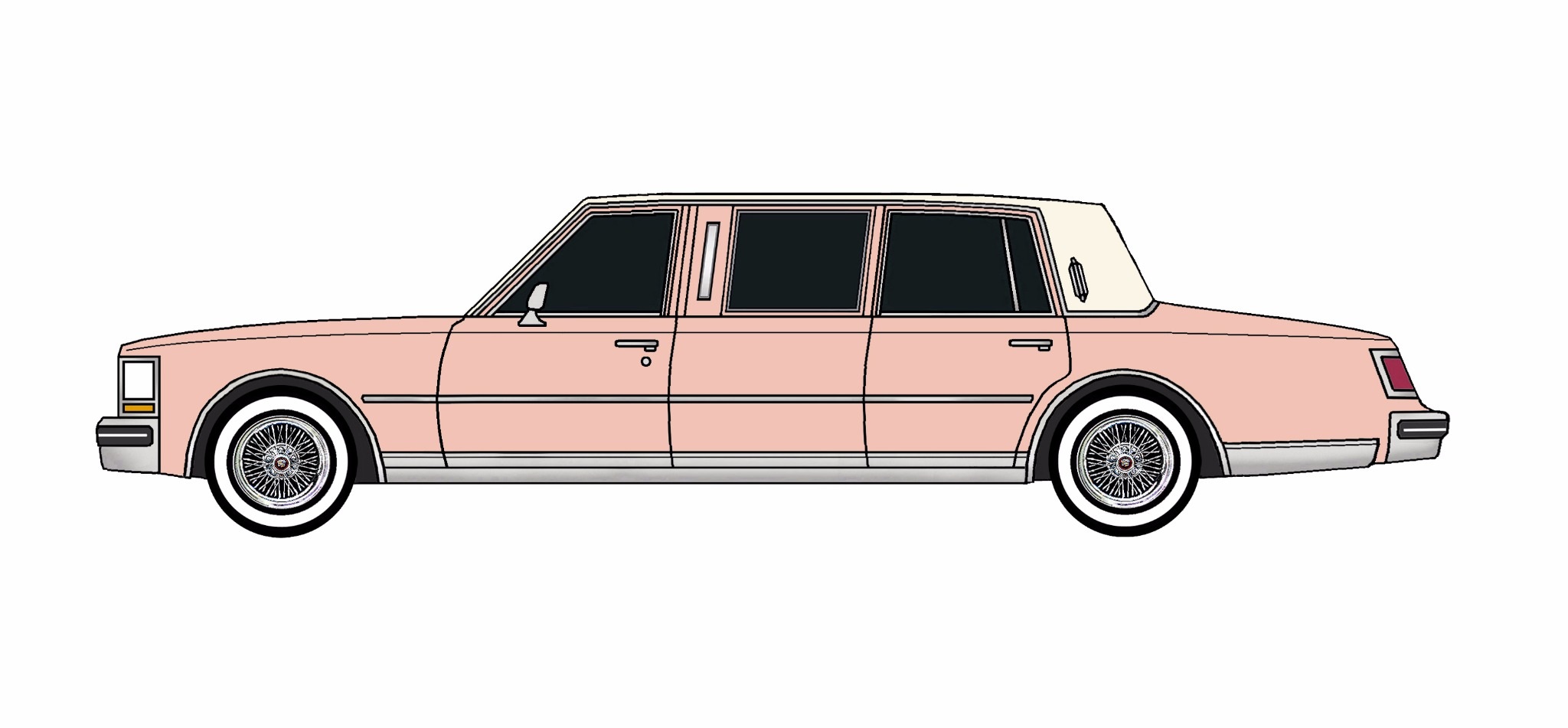 1978 Cadillac Seville Limo ROSE PINK