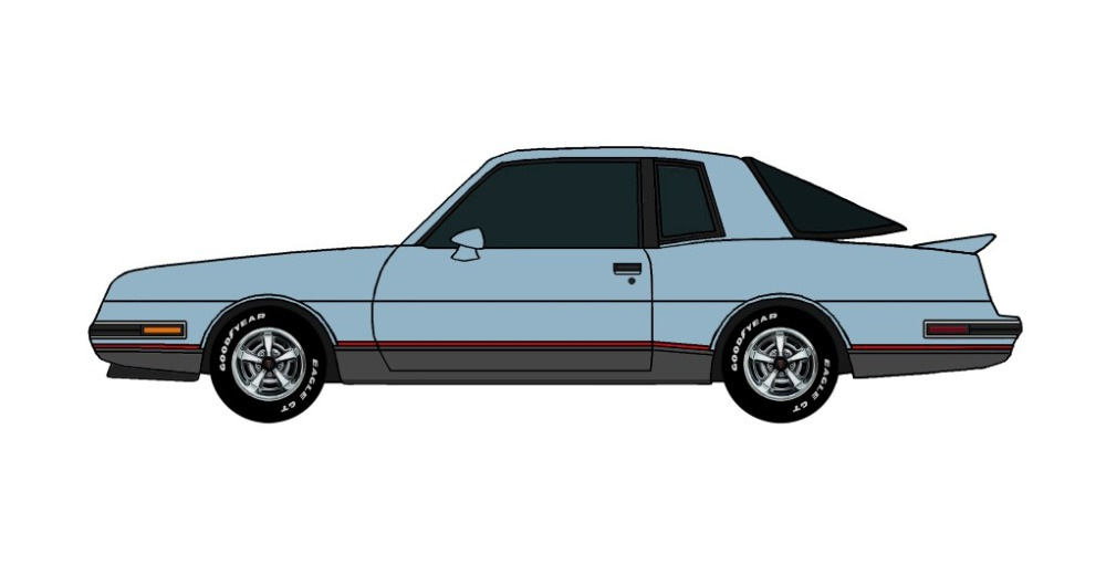 1986 Pontiac Grand Prix 2+2 LIGHT BLUE