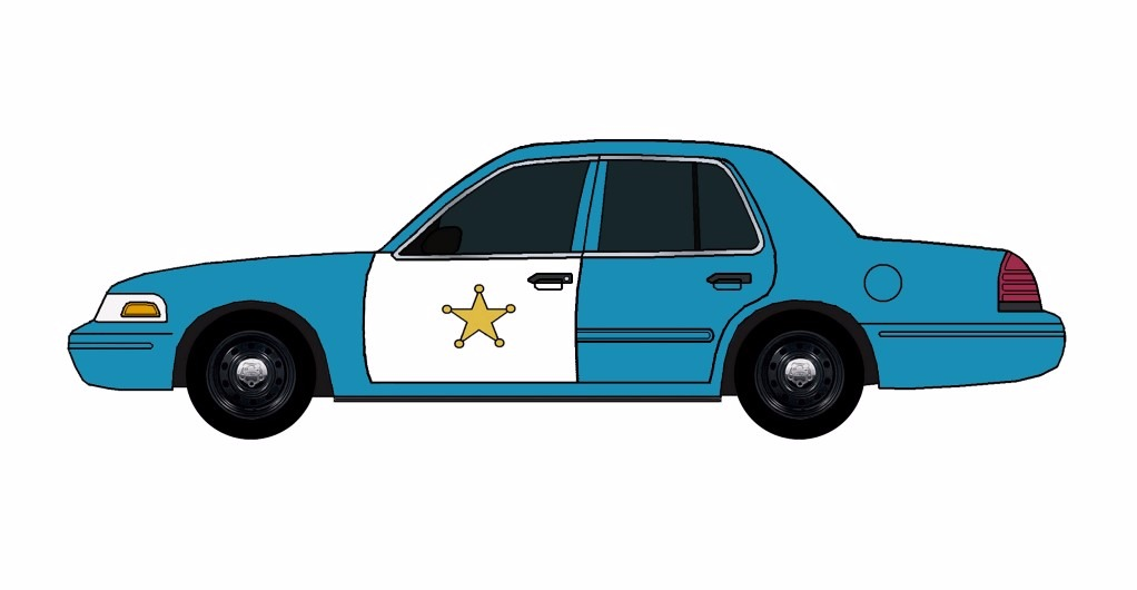 2011 Ford Crown Victoria Police Car SEA BLUE