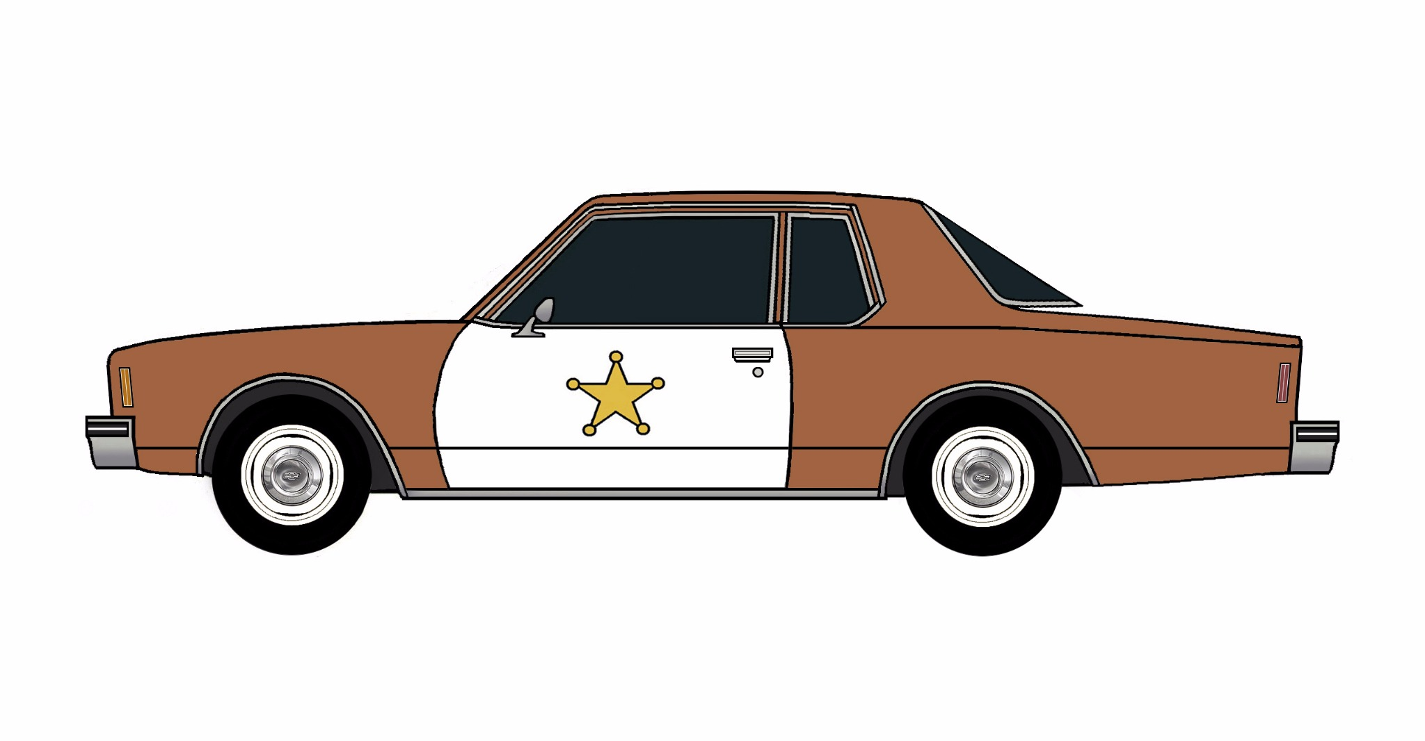 1977 Chevy Impala Police Coupe SIENNA BROWN