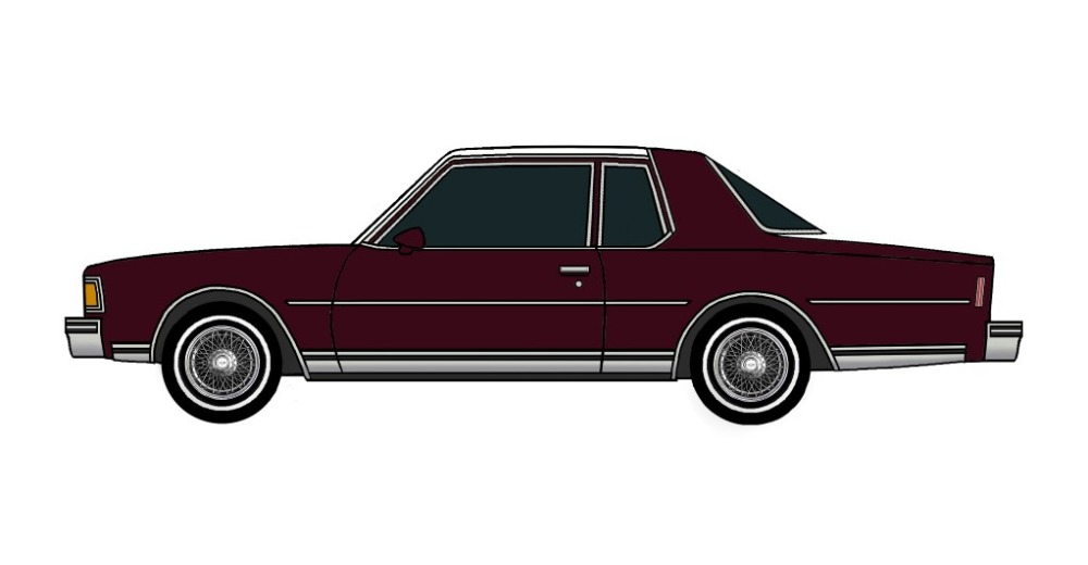 1978 Chevy Caprice Coupe MAROON