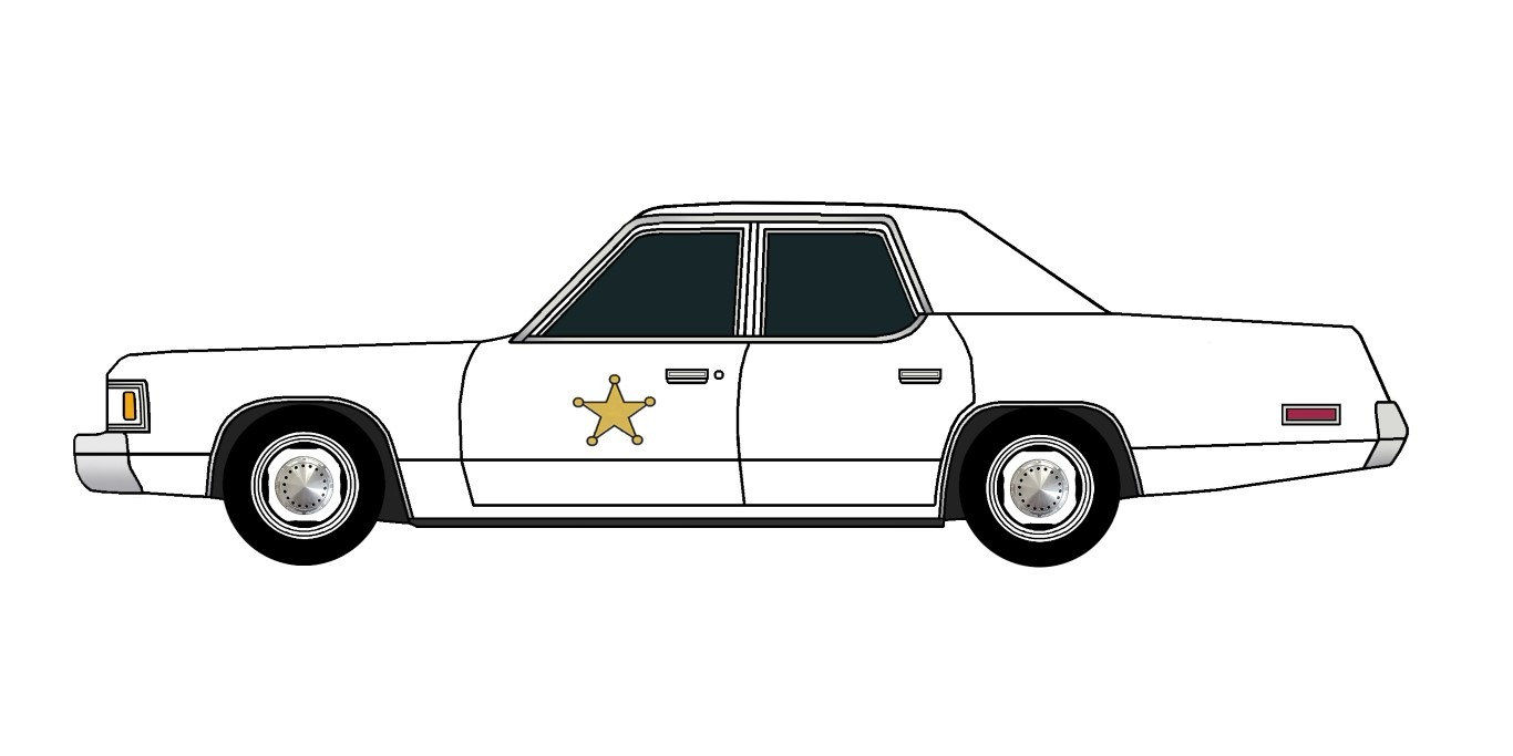 1976 Dodge Royal Monaco Police WHIITE