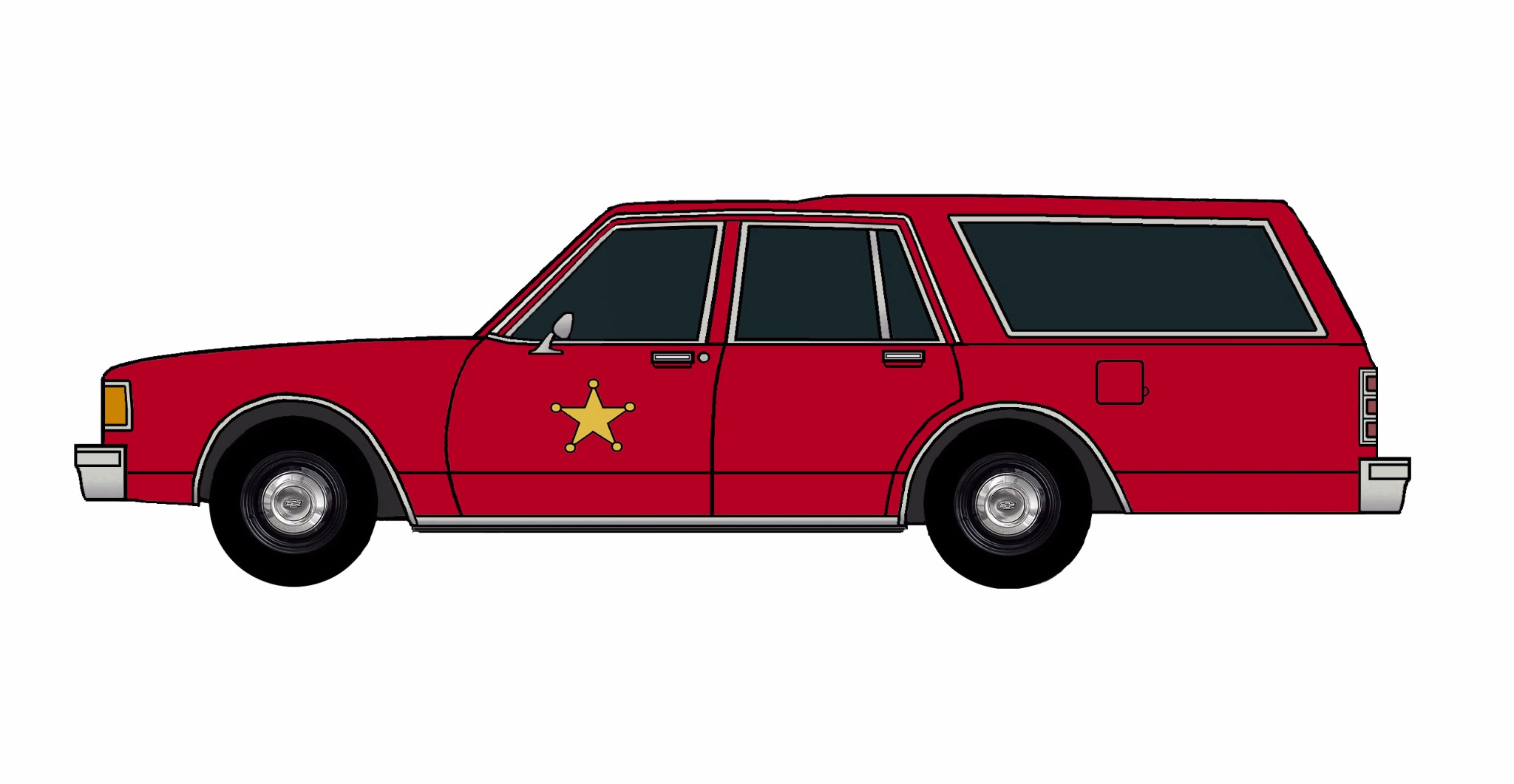 1986 Chevy Caprice 9C1 Wagon FIRE RED