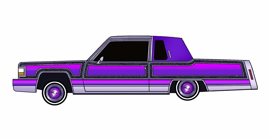1984 Cadillac Fleetwood Coupe LOWRIDER Purple Rain