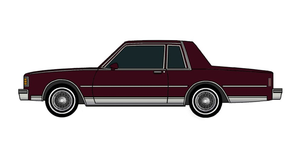 1980 Chevy Caprice Coupe MAROON