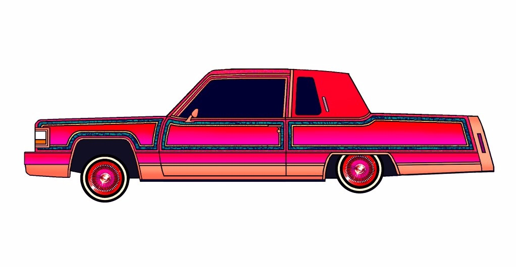1984 Cadillac Fleetwood Coupe LOWRIDER Flamingo