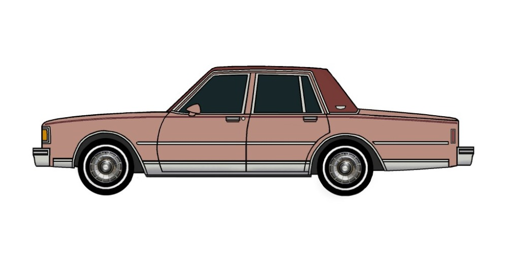 1985 Chevy Caprice Brougham CLAY ROSE
