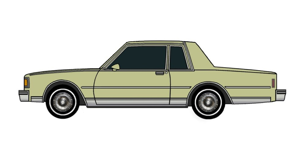 1985 Chevy Caprice Coupe OLIVE GREEN