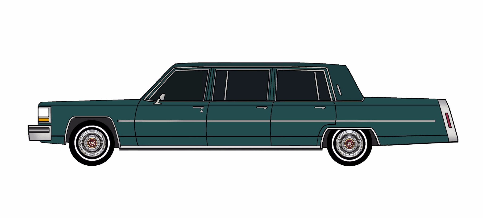 1981 Cadillac Fleetwood Funeral Limo TEAL