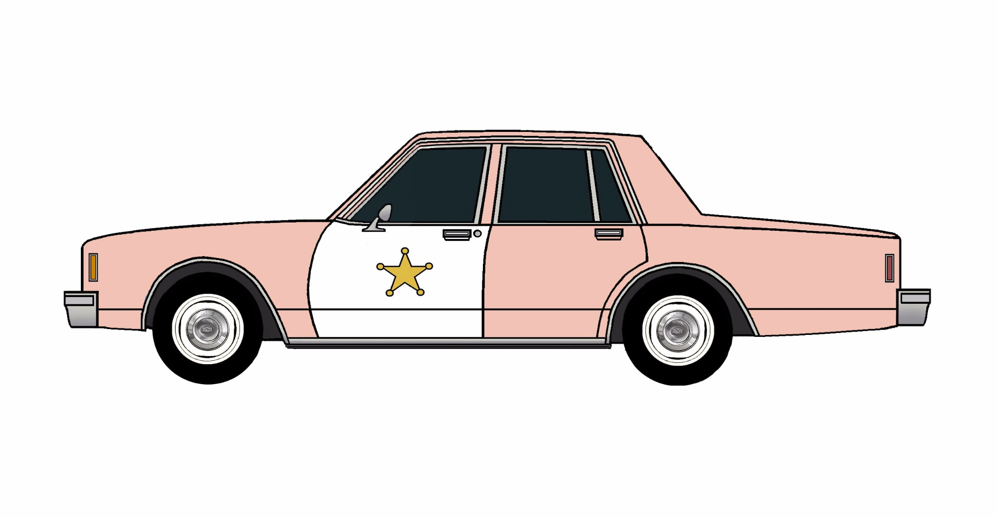 1985 Chevy Impala 9C1 ROSE PINK