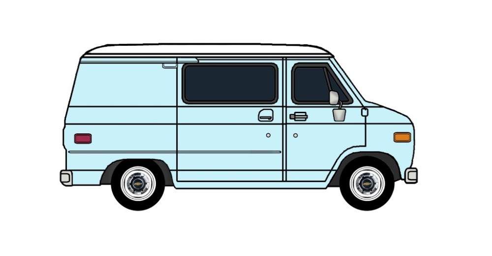 1977 Chevy G10 PALE BLUE