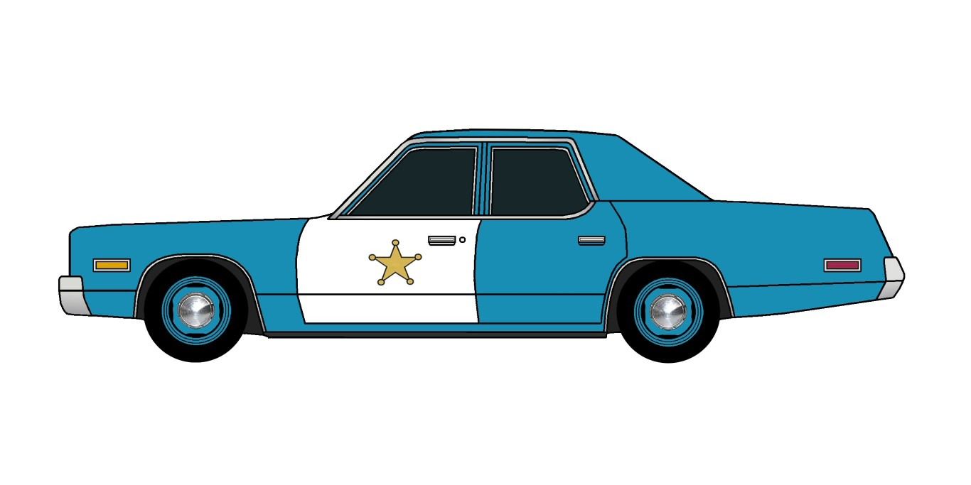 1974 Plymouth Fury Police SEA BLUE